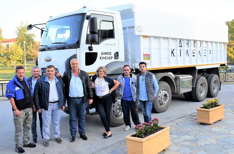 Παραλαβή καινούργιου φορτηγού στο Δήμο Κιλελέρ