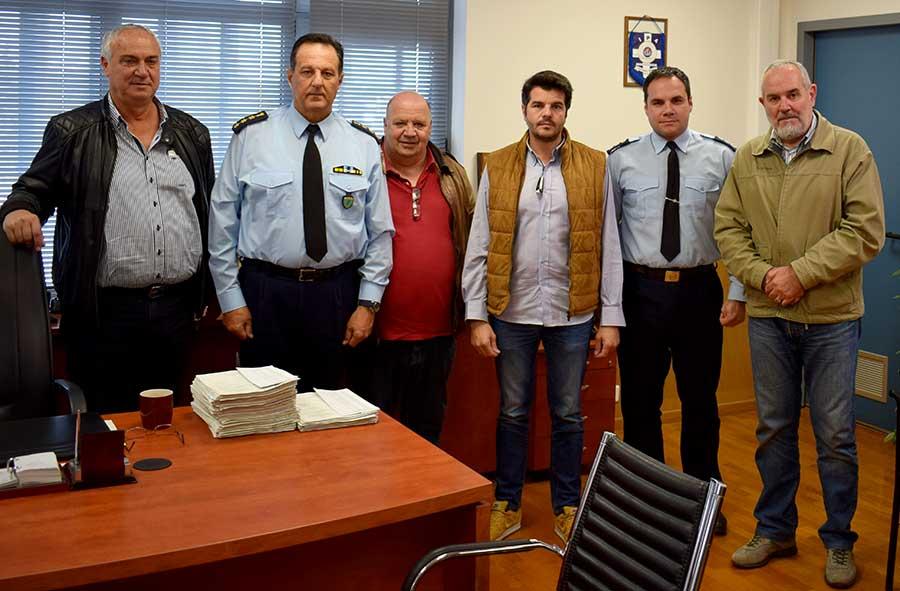 Στον Διευθυντή Αστυνομικής Διεύθυνσης Λάρισας αντιπροσωπεία του Δήμου Κιλελέρ