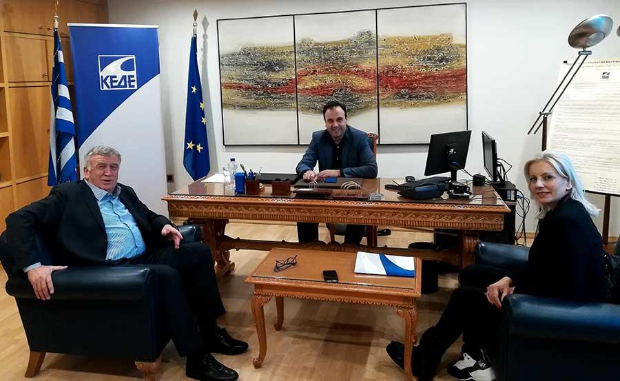 Στον πρόεδρο της ΚΕΔΕ ο Θανάσης Νασιακόπουλος και η Ρένα Καραλαριώτου